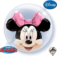 24 Inch Minnie Mouse Double Bubble Qualatex 1ct