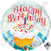 Qualatex 18 Inch Round Birthday Cupcake & Sprinkles Foil Balloon