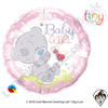 Qualatex 18 Inch Round Me To You - Tiny Tatty Teddy Baby Girl Foil Balloon 1ct