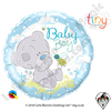 Qualatex 18 Inch Round Me To You - Tiny Tatty Teddy Baby Boy Foil Balloon 1ct