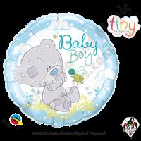 18 Inch Round Me To You - Tiny Tatty Teddy Baby Boy Foil Balloon 1ct