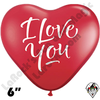 Qualatex 6 Inch Heart I Love You Modern Balloons 100ct