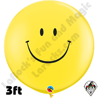 Qualatex 3 Foot Round Smile Balloons 2ct