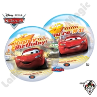 Qualatex 22 Inch Birthday Cars Bubble 1ct