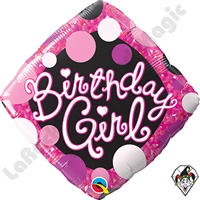 18 Inch Diamond Birthday Girl Foil Balloon Qualatex 1ct