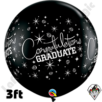 Qualatex 3 Foot Round Congratulations Graduate Balloons 2ct