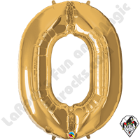Qualatex 34 Inch Number Zero Gold Foil Balloon 1ct