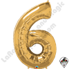 Qualatex 34 Inch Number Six Gold Foil Balloon 1ct