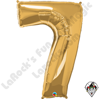 Qualatex 34 Inch Number Seven Gold Foil Balloon 1ct