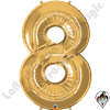 Qualatex 34 Inch Number Eight Gold Foil Balloon 1ct