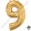 Qualatex 34 Inch Number Nine Gold Foil Balloon 1ct