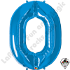 Qualatex 34 Inch Number Zero Sapphire Blue Foil Balloon 1ct