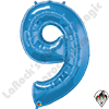 Qualatex 34 Inch Number Nine Sapphire Blue Foil Balloon 1ct