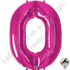 Qualatex 34 Inch Number 0 Magenta Foil Balloon 1ct