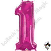 Qualatex 34 Inch Number One Magenta Foil Balloon 1ct