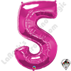 Qualatex 34 Inch Number Five Magenta Foil Balloon 1ct