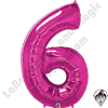 Qualatex 34 Inch Number Six Magenta Foil Balloon 1ct