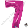 Qualatex 34 Inch Number Seven Magenta Foil Balloon 1ct