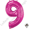 Qualatex 34 Inch Number Nine Magenta Foil Balloon 1ct
