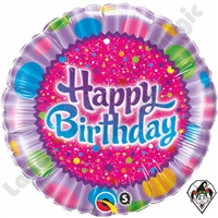 18 Inch Birthday Sprinkles & Sparkles Foil Balloon