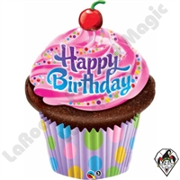 35 Inch Shape Birthday Frosted Cupcake Foil Balloon