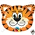 Qualatex 30 Inch Shape Tickled Tiger Foil Balloon 1ct