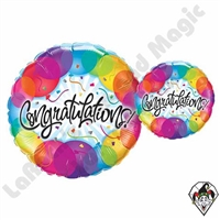 Qualatex 18 Inch Round Congratulations Balloons Foil Balloon 1ct