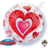 Qualatex 22 Inch Hearts & Filigree Bubble 1ct