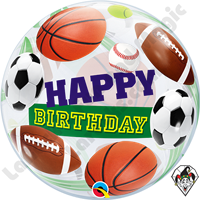 22 Inch Birthday Sports Balls Bubble Qualatex 1ct