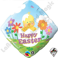 18 Inch Diamond Easter Baby Chick Foil Qualatex Balloon 1ct