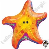 Qualatex 30 Inch Shape Super Sea Star Foil Balloon 1ct