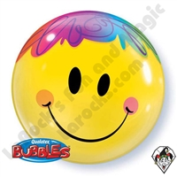 Qualatex 22 Inch Bright Smile Face Bubble 1ct