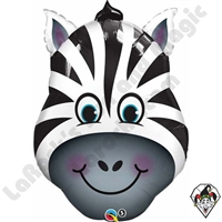 Qualatex 32 Inch Zany Zebra Foil Balloon