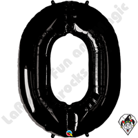 Qualatex 34 Inch Number Zero Onyx Black Foil Balloon 1ct