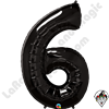Qualatex 34 Inch Number Six Onyx Black Foil Balloon 1ct