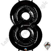 Qualatex 34 Inch Number Eight Onyx Black Foil Balloon 1ct
