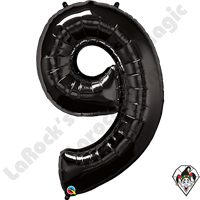 Qualatex 34 Inch Number Nine Onyx Black Foil Balloon 1ct