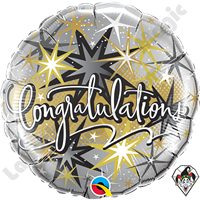 Qualatex 18 Inch Round Congratulations Elegant Foil Balloon