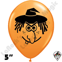 Qualatex 5 Inch Round Witch Face Balloons 100ct