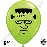 Qualatex 5 Inch Round Frankenstein Face Balloons 100ct