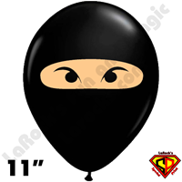 11 Inch Round Ninja Black w/ Skin-Tone Qualatex 50ct