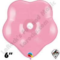 6 Inch Geo Blossom Pink Balloon Qualatex 50ct