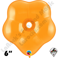 6 Inch Geo Blossom Jewel Mandarin Orange Balloon Qualatex 50ct