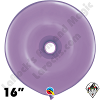 16 Inch Geo Donut Fashion Spring Lilac Balloon Qualatex 25ct
