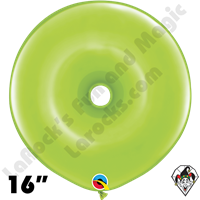 16 Inch Geo Donut Fashion Lime Green Balloon Qualatex 25ct