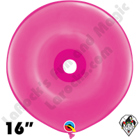 16 Inch Geo Donut Fashion Wild Berry Balloon Qualatex 25ct