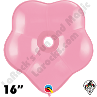 16 Inch Geo Blossom Standard Pink Balloon Qualatex 25ct.