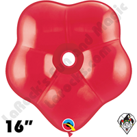 16 Inch Geo Blossom Jewel Ruby Red Balloon Qualatex 25ct
