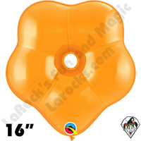16 Inch Geo Blossom Jewel Mandarin Orange Balloon Qualatex 25ct