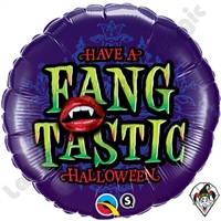 18 Inch Round Fang-Tastic Halloween Foil Balloon Qualatex 1ct